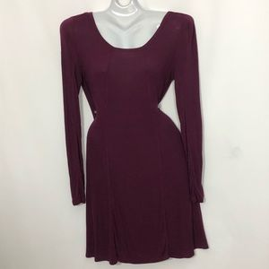 VICTORIAS SECRET flair long sleeve midi dress
